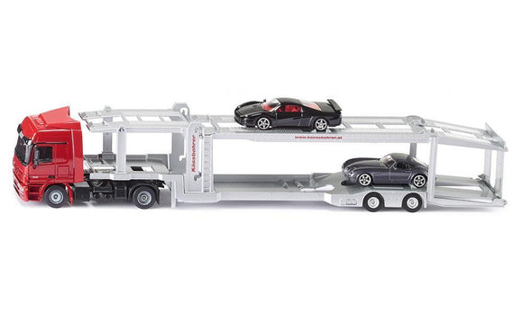 NEW Siku Car Transporter Truck with 2 Cars Die Cast Toy Car 3934 1:50 Scale - BumpsieDaisy