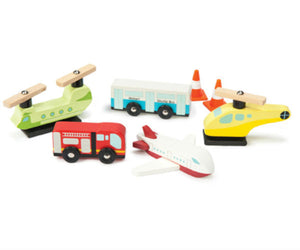 Le Toy Van Chocks Away Airport Wooden Wood Play Set - BumpsieDaisy