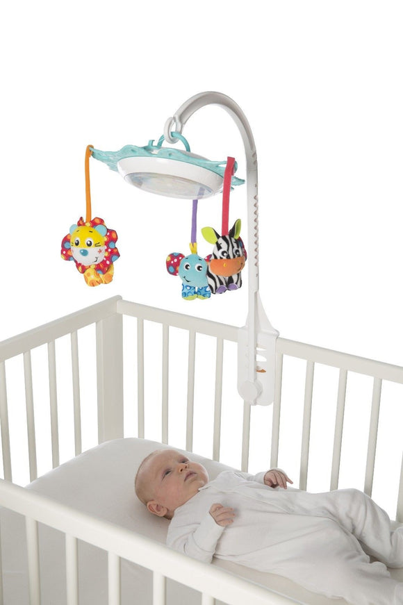 Brand New Playgro Deluxe Music & Lights Cot Mobile Nightlight & Play Toy 0m+ - BumpsieDaisy