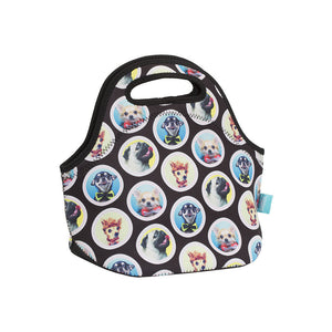 NEW Spencil Woof Dog Puppy Neoprene School Lunch Bag with zip & handles - BumpsieDaisy