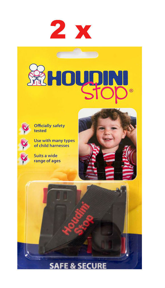 2 x New Houdini Stop Car Seat Safety Harness Chest Strap - BumpsieDaisy