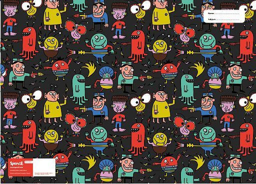 Spencil Alien Attack Scrapbook School Book Cover - BumpsieDaisy