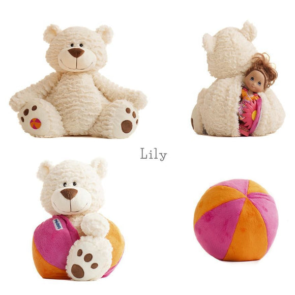 New Buddy Balls Super Soft Buddy & Toss-able Ball with secret compartment Lily - BumpsieDaisy