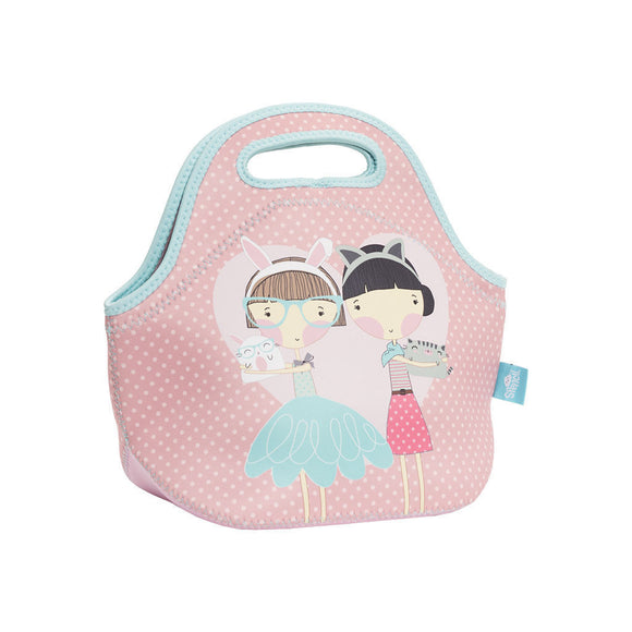 NEW Spencil Lulu & Pearl Girls Cats Neoprene School Lunch Bag with zip & handles - BumpsieDaisy