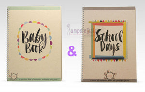 NEW Rhicreative Baby & School Days Book Set Keepsake Photo Memories Milestones - BumpsieDaisy
