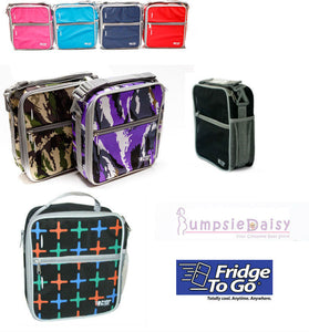 NEW Fridge to Go 8 Hours Cold Insulated Lunch Box Medium 8 Colours & Designs - BumpsieDaisy