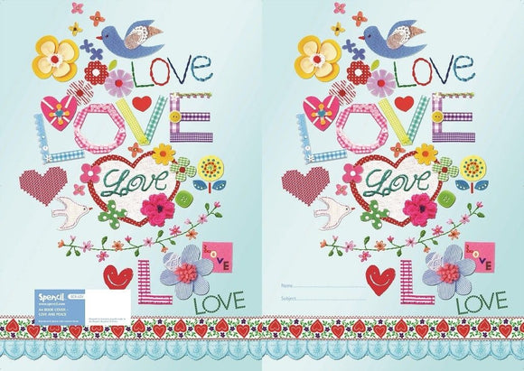 Spencil Love & Peace Scrapbook School Book Cover