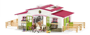 New Schleich Horse Riding Centre Stable 42344 with Rider 2 Horses & Accessories - BumpsieDaisy