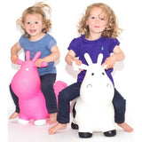 NEW Happy Hopperz Pink or White Small Cow Inflatable Hopper Bouncer Toy 12mths+ - BumpsieDaisy