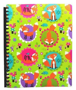 Spencil Friendly Fox Foxes A4 School Display Book 20 Plastic Pockets - BumpsieDaisy