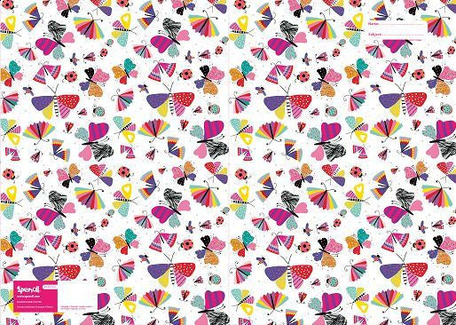 Spencil Flutter Butterflies Scrapbook School Book Cover