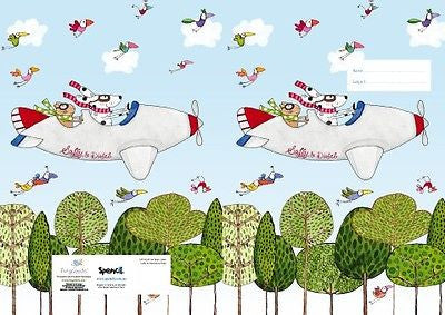 Spencil Saffy on the Move Plane Exercise School Book Cover A5 - BumpsieDaisy