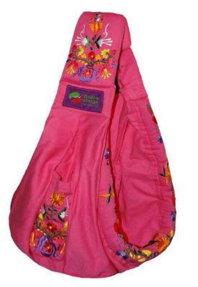 Baba Sling Baby Carrier Embroidered Pink - BumpsieDaisy