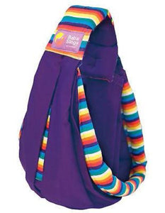 Baba Sling Baby Carrier Boutique Purple Rainbow Stripes - BumpsieDaisy