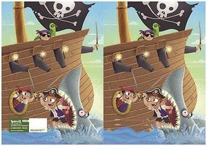 Spencil Pirates Exercise School Book Cover A5