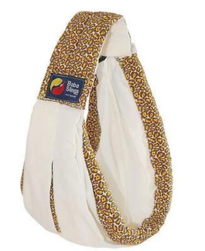 Baba Sling Baby Carrier Boutique Cream Leopard - BumpsieDaisy