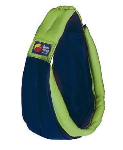Baba Sling Baby Carrier Two Tone Navy & Lime - BumpsieDaisy
