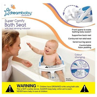 New Dreambaby Padded Premium Deluxe Baby Safety Bath Seat With Sensor Dream - BumpsieDaisy