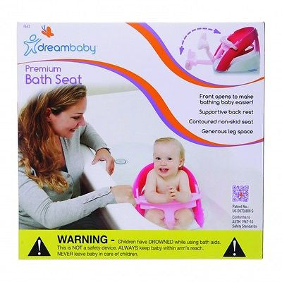 New Dreambaby Pink Premium Deluxe Baby Safety Bath Seat Dream - BumpsieDaisy