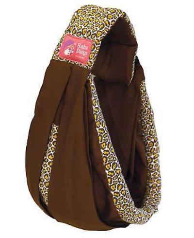 Baba Sling Baby Carrier Boutique Brown Leopard - BumpsieDaisy