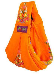 Baba Sling Baby Carrier Embroidered Orange - BumpsieDaisy