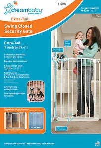 Dreambaby Chelsea Extra Tall Swing Closed Security Baby Pet Safety Gate Dream 1m - BumpsieDaisy