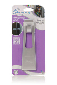 New Dreambaby Silver Refridgerator Fridge Freezer Latch Baby Safety Lock Dream - BumpsieDaisy