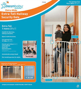 Dreambaby Chelsea Extra Wide & Tall Swing Closed Security Baby Safety Gate 1m - BumpsieDaisy