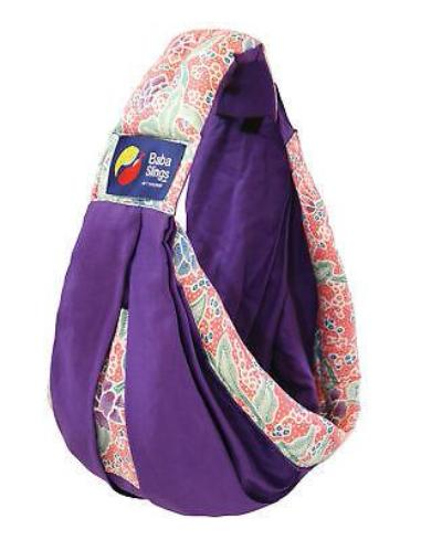 Baba Sling Baby Carrier Boutique Purple Bright Pink Batik - BumpsieDaisy