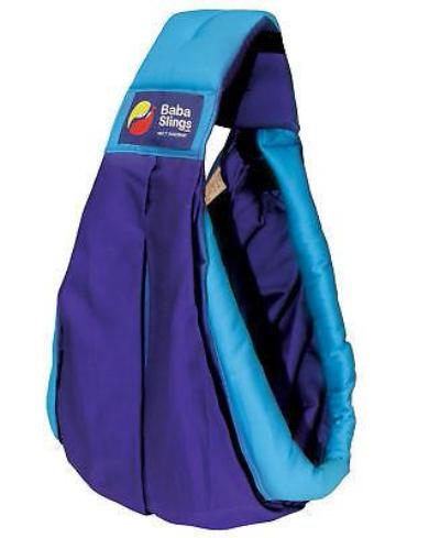 Baba Sling Baby Carrier Two Tone Purple Turquoise - BumpsieDaisy