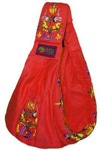 Baba Sling Baby Carrier Embroidered Red - BumpsieDaisy