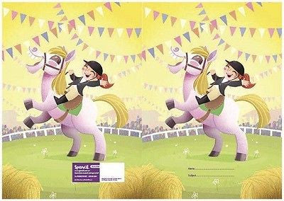 Spencil Gymkhana Horse Riding Exercise School Book Cover A5 - BumpsieDaisy