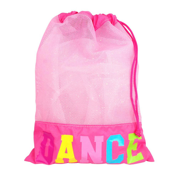 NEW Pink Poppy Hot Pink Dance in Style Ballet Jazz Childrens Dance Shoe Bag - BumpsieDaisy