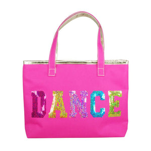 Pink Poppy Hot Pink Sequinned Dance Ballet Childrens Small Tote Bag - BumpsieDaisy