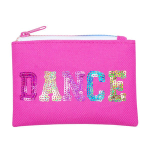 Pink Poppy Hot Pink Sequinned Dance in Style Zipped Coin Purse - BumpsieDaisy