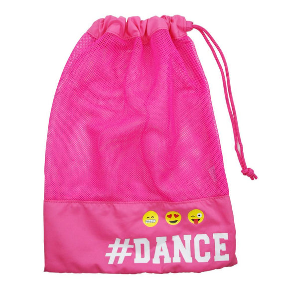 Pink Poppy Hot Pink Pixel Emoji # Dance in Style Ballet Jazz Dance Shoe Bag - BumpsieDaisy