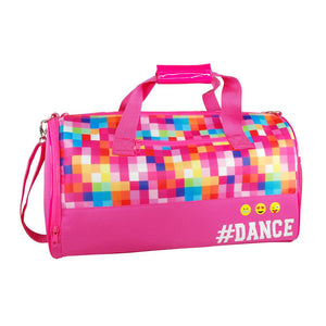 Pink Poppy Hot Pink Pixel Emoji # Dance Ballet Childrens Carry All Sport Bag - BumpsieDaisy