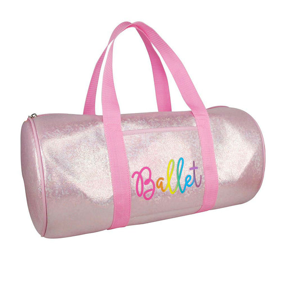 Pink Poppy Vivid Pink Sparkle Dance Ballet Childrens Carry All Sport Bag - BumpsieDaisy