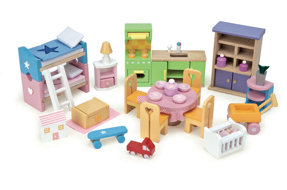 Le Toy Van Deluxe Starter Furniture Set Wood Doll House - BumpsieDaisy