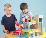 Le Toy Van Le Grand Car Garage Wooden Wood Toy Grande - BumpsieDaisy