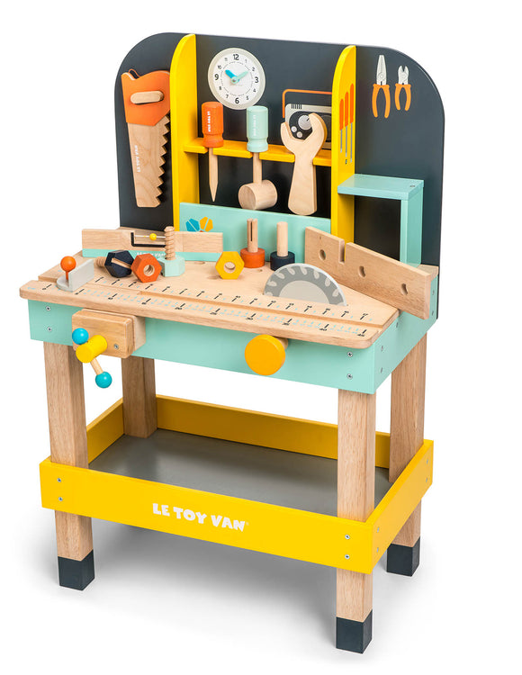 Le Toy Van Alex's Tool Work Bench Incl Nuts Bolts & Tools Wooden Wood Toy - BumpsieDaisy