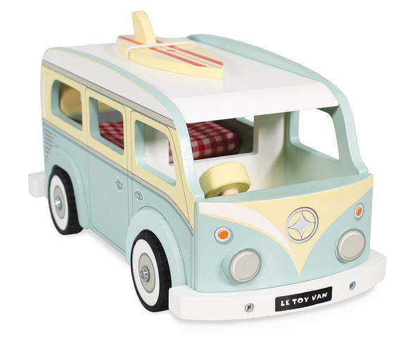 Le Toy Van Holiday Retro VW Kombi Combi Style Campervan Wooden Wood Toy - BumpsieDaisy