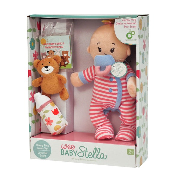 Manhattan Toys Wee Baby Stella Sleepy Time Lavender Scent Soft Doll Set 12m+ - BumpsieDaisy