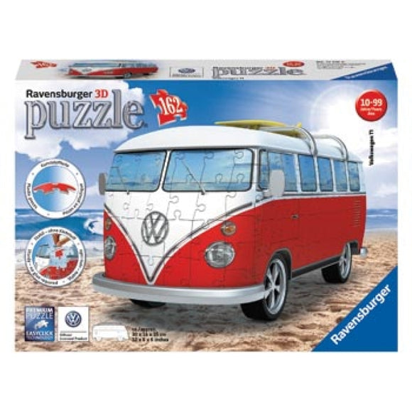 Ravensburger VW Kombi Combi Bus 3D Puzzle Jigsaw 162 Pieces