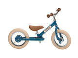 Trybike 2 in 1 Steel Tricycle Balance Bike Vintage Style Chrome Parts Cream Tyres - BumpsieDaisy