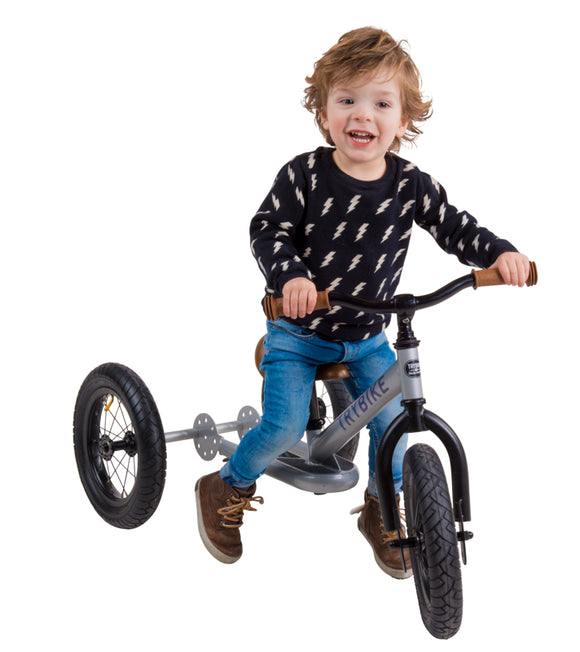 Trybike 2 in 1 Steel Tricycle Balance Bike Black Try Bike