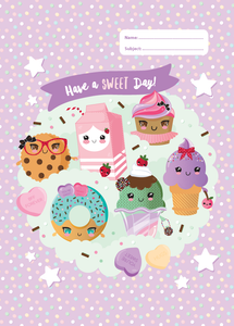 Spencil Everyday is a Sundae II Ice Cream Donut Design A4 School Book Cover - BumpsieDaisy