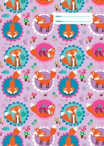 Spencil Funny Foxes Fox II A4 School Book Cover - BumpsieDaisy
