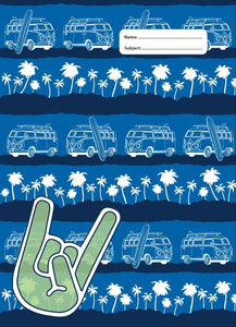 Spencil Gone Surfing II Surf Kombi Combi A4 School Book Cover