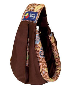 Baba Sling Baby Carrier Boutique Brown Batik - BumpsieDaisy